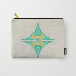 Pata Pattern in Green & Yellow Carry-All Pouch