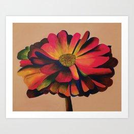 Calendula Flower: Primaries Art Print