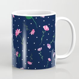 Pretty Pink Watercolour Flowers Coffee Mug