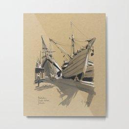 Pelabuhan Sunda Kelapa, Jakarta Metal Print