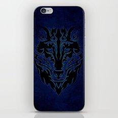 Blue Tribal Wolf iPhone & iPod Skin
