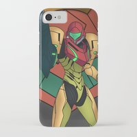 samus iPhone & iPod Cases featuring Samus by Bradley Bailey