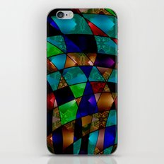 Abstract colorful magic pattern two iPhone & iPod Skin