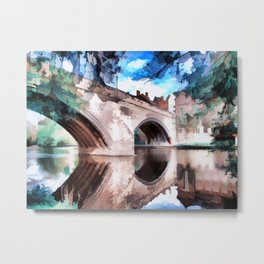 Framwellgate Bridge - Durham City Metal Print