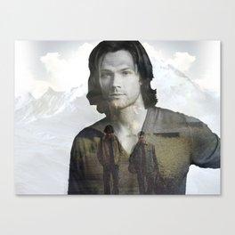 Sam Winchester Fan Art Canvas Print
