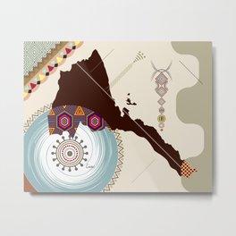 Eritrea Stylized  Metal Print