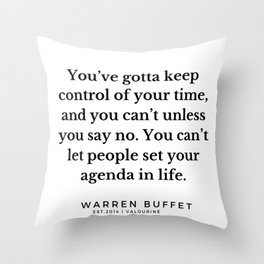 31  | Warren Buffett Quotes | 190823 Throw Pillow