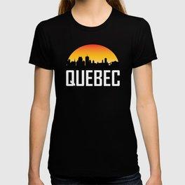 Sunset Skyline of Quebec QC T-shirt