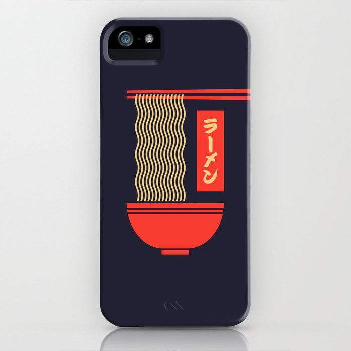 ramen japanese food noodle bowl chopsticks - black iphone case