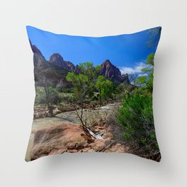 The_Watchman - Spring in Zion_National_Park, UT Throw Pillow