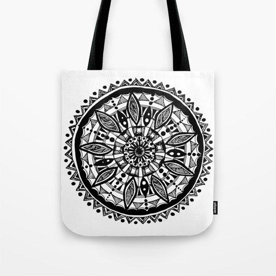Black sunflower Tote Bag