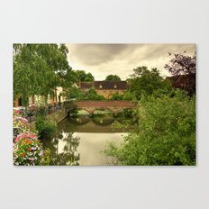 Abingdon Bridge reflects Canvas Print