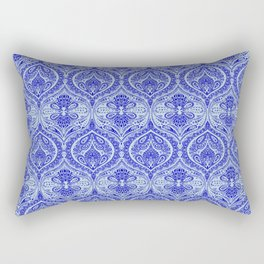 Simple Ogee Blue Rectangular Pillow