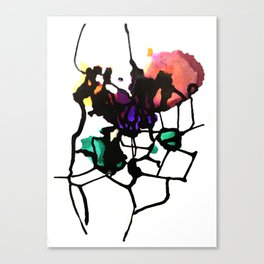Secondary Splatter Canvas Print