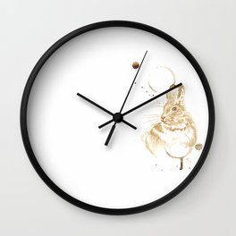 Coffee Rabbit Wall Clock