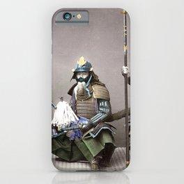 Kusakabe Kimbei - Samurai in Armour iPhone Case