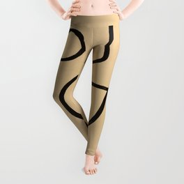 Organic Charcoal line art Leggings