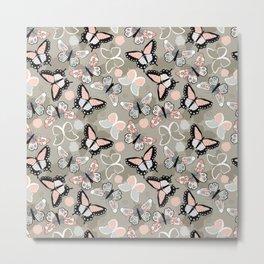 Butterfly pattern 002 Metal Print