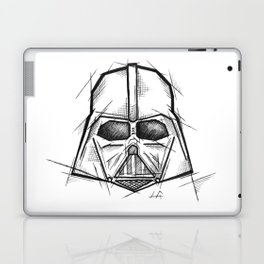 Darth Vader Handmade Drawing, Made in pencil, charcoal and ink, Tattoo Sketch, Tattoo Flash, Sketch Laptop & iPad Skin