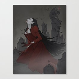 Drawlloween Vampire Canvas Print