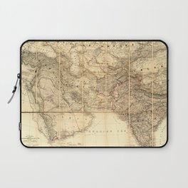 Middle East Map (1885) Laptop Sleeve