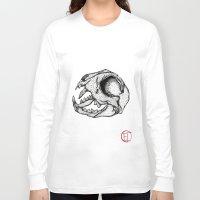 animal skull Long Sleeve T-shirts featuring Animal Skull by Emma Heller