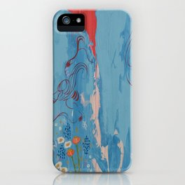 Dragon Tears. From my Original Painting. Abstract Painting by Jodilynpaintings. Abstract iPhone Case