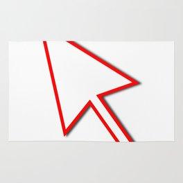 Cursor Arrow Mouse Red Line Rug