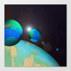 personal planets orbit dying earth Canvas Print
