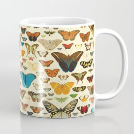 Vintage Colorfull Butterflies Collection Coffee Mug