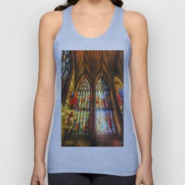 Cathedral Stained Glass Window Unisex Tank Top