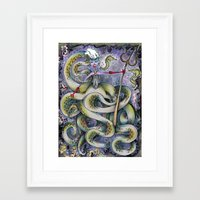 ursula Framed Art Prints featuring Ursula by Jena Sinclair