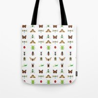 insects Tote Bags featuring insects by Alysha Dawn