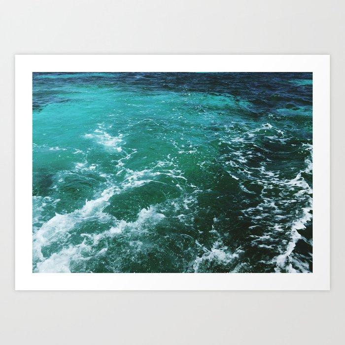 Ocean waves, Dominican republic Art Print