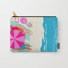 Toasty - memphis throwback minimal retro neon beach surfing suntan waves ocean socal pop art Carry-All Pouch
