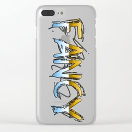 Classy Golden FANCY Text Clear iPhone Case