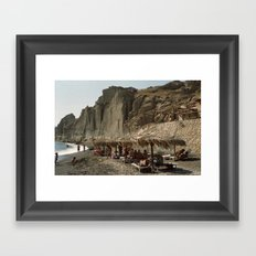 Eros Beach, Santorini Framed Art Print