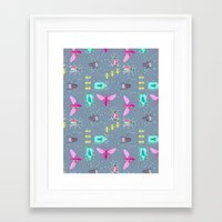 insects Framed Art Prints featuring Insects by Micaela Zahner Design
