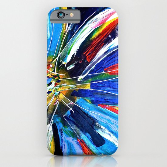 Dutch Spin - Colorful abstract painting flower iPhone & iPod Case