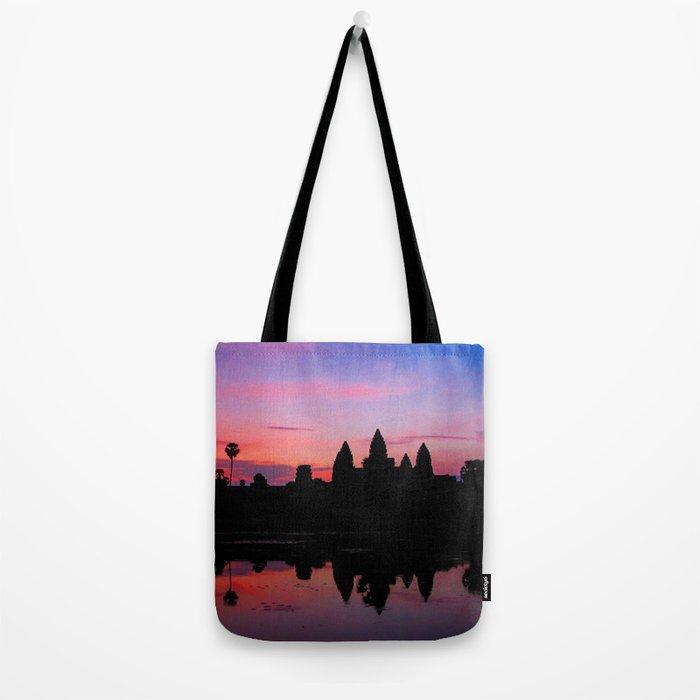 Angkor Wat Sunrise Reflection Tote Bag