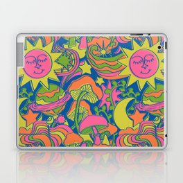 Psychedelic Daydream in Neon + Blue Laptop & iPad Skin