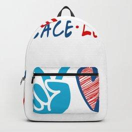 Coronavirus Pandemic Peace Love Nursing Backpack