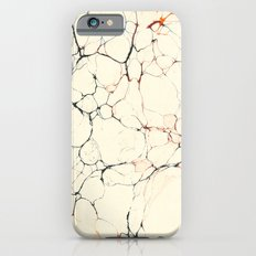 Marble Cream Blue / Orange Square # 2 Slim Case iPhone 6s
