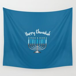 Happy Chanukah Wall Tapestry