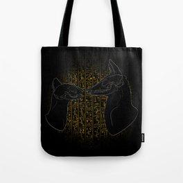 Sacred Anubis & Bastet Tote Bag