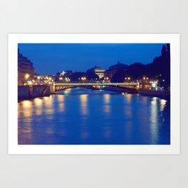 Paris by Night I Art Print