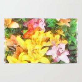 Lilies Love and Light Rug
