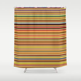 Old Skool Stripes - Bold - Horizontal Shower Curtain