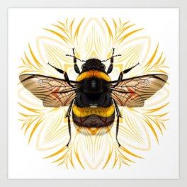 Bumblebee Mandala Design Art Print