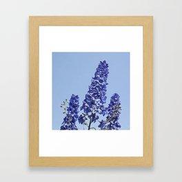 blue blue blue IV Framed Art Print